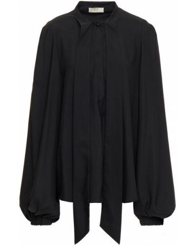 Черная блузка на пуговицах с манжетами Sara Battaglia