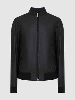 Кожаная куртка - черная Stefano Ricci