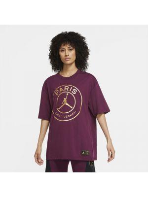 Fioletowy t-shirt oversize Nike