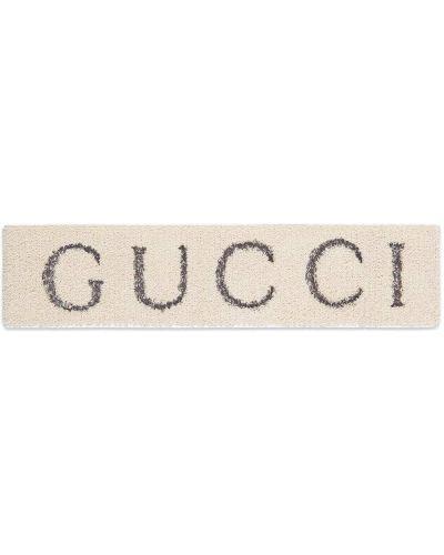 Opaska na głowę biały na głowie Gucci