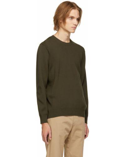 Sweter bawełniany - zielony Norse Projects
