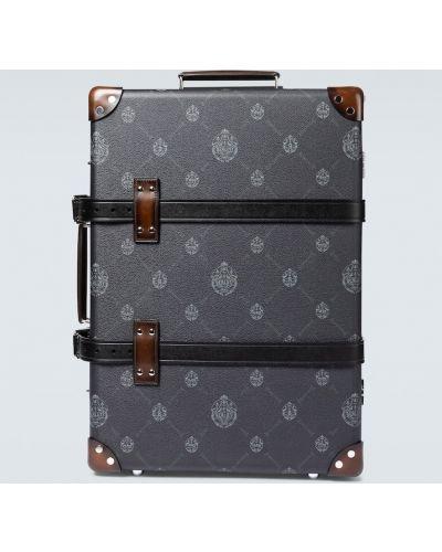 Брендовый коричневый кожаный чемодан Berluti