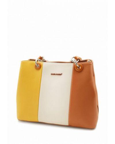 Кожаная сумка - коричневая David Jones