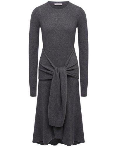 Шерстяное серое платье Jw Anderson