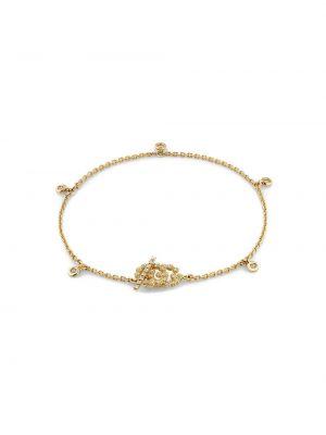 Bransoletka ze złota z diamentem włoski Gucci