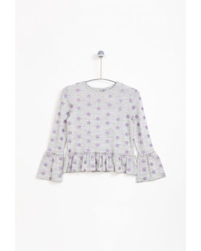 Блуза с принтом с вырезом Lemon Explore