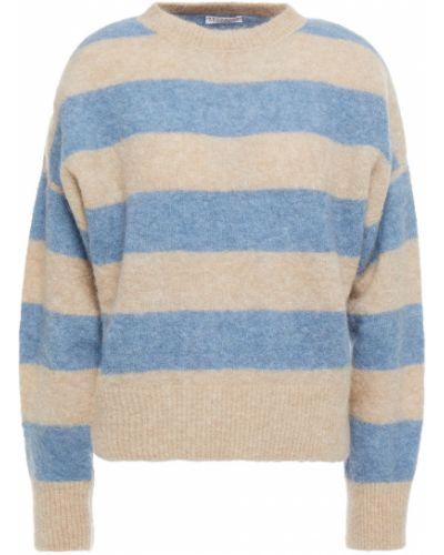 Синий шерстяной вязаный свитер Brunello Cucinelli