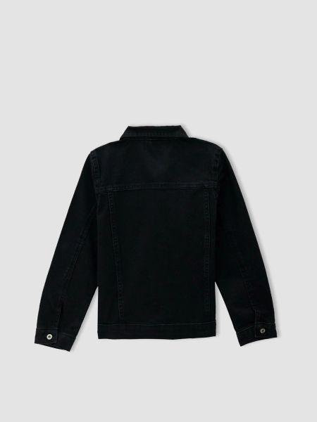 Джинсовая куртка - черная Defacto