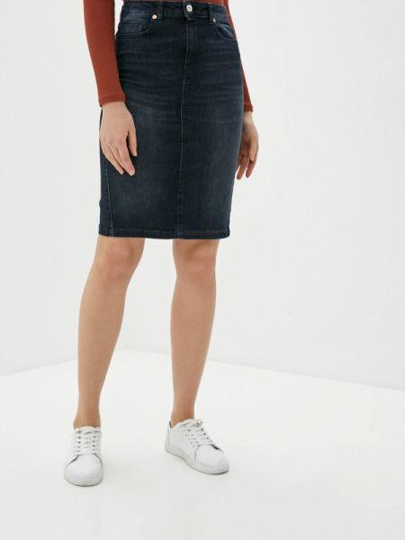 Джинсовая юбка синяя весенняя United Colors Of Benetton