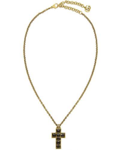 Naszyjnik ze złota czarny Gucci
