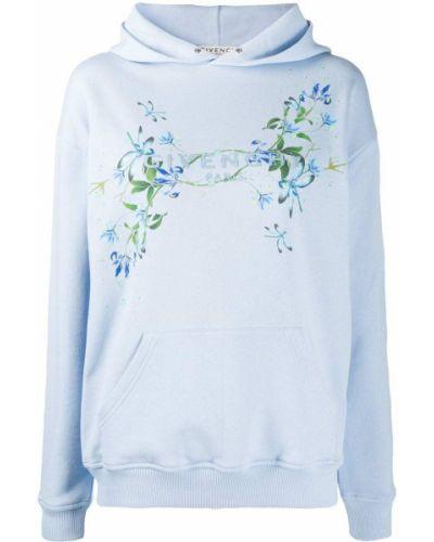 Bawełna bawełna niebieski bluza z kapturem z kapturem Givenchy