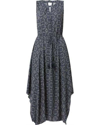 Niebieska sukienka midi rozkloszowana z wiskozy Apricot