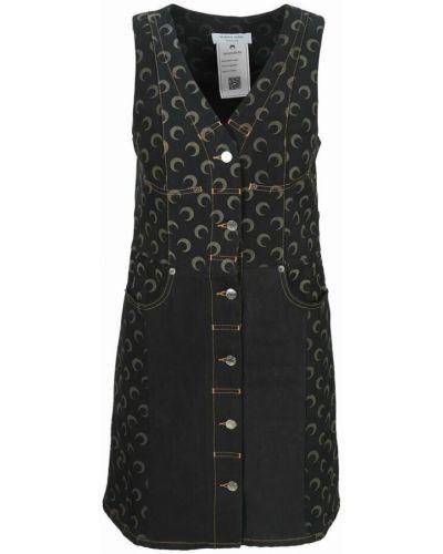 Czarna sukienka Marine Serre