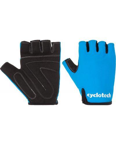 Кожаные перчатки черные без пальцев Cyclotech