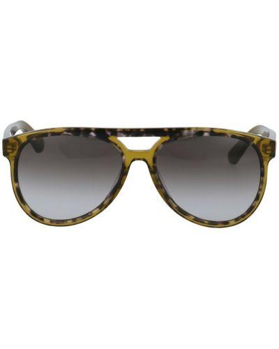 Szare okulary z printem Salvatore Ferragamo