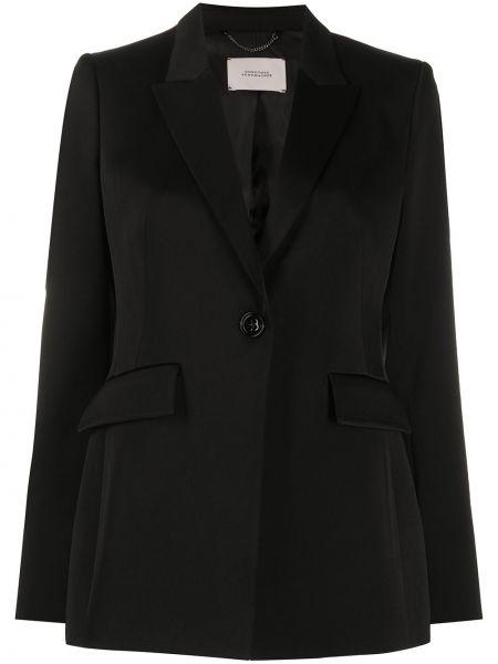 Черный пиджак с карманами из вискозы с лацканами Dorothee Schumacher