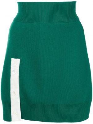 Prążkowana zielona spódniczka mini Monse