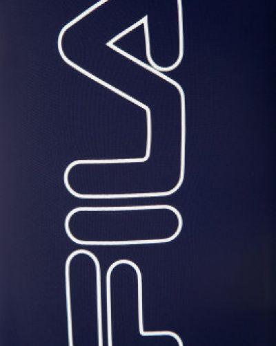 Плавки-боксеры синие с принтом Fila
