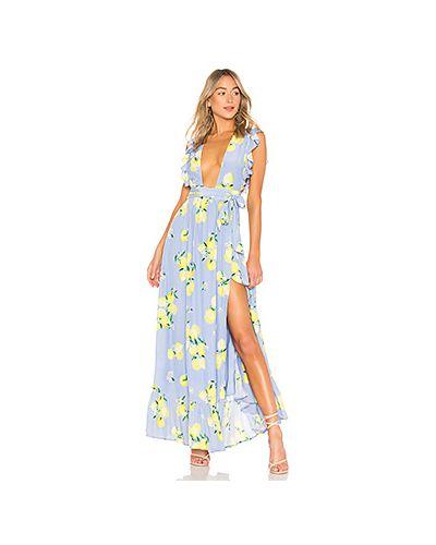 Платье макси с запахом из вискозы Majorelle