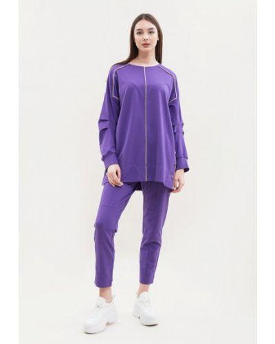 Костюмный фиолетовый спортивный костюм Maxa