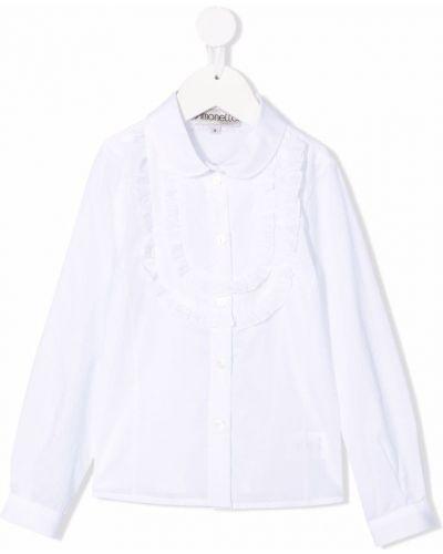 Biała biała koszula z długimi rękawami Simonetta