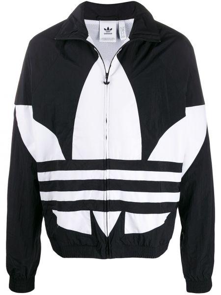 Длинная куртка с цветочным принтом с манжетами Adidas
