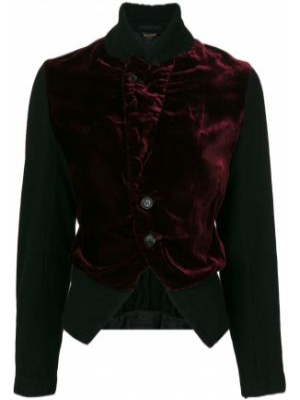 Бархатная черная куртка с воротником Comme Des Garçons Pre-owned