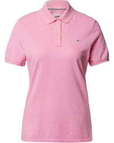 Różowy t-shirt bawełniany Tommy Jeans