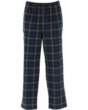 Zielona piżama bawełniana w kratę Ralph Lauren