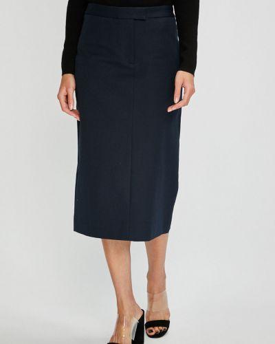 Długo spódnica z haftem wełniany Calvin Klein