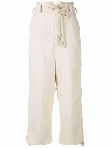 Przycięte spodnie z kieszeniami białe Toogood