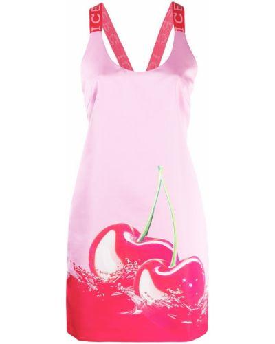 Платье мини розовое на бретелях Iceberg