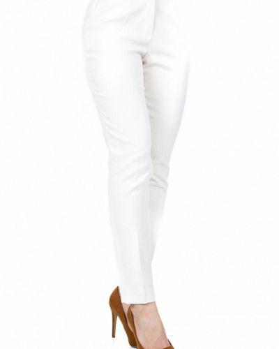 Классические брюки - белые Bialcon