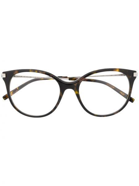 Массивные коричневые прямые солнцезащитные очки металлические Boucheron Eyewear