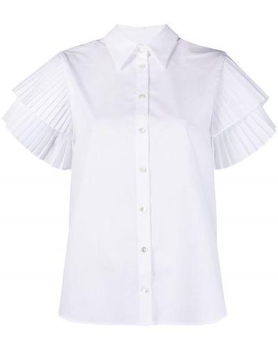 Хлопковая белая классическая рубашка с воротником P.a.r.o.s.h.