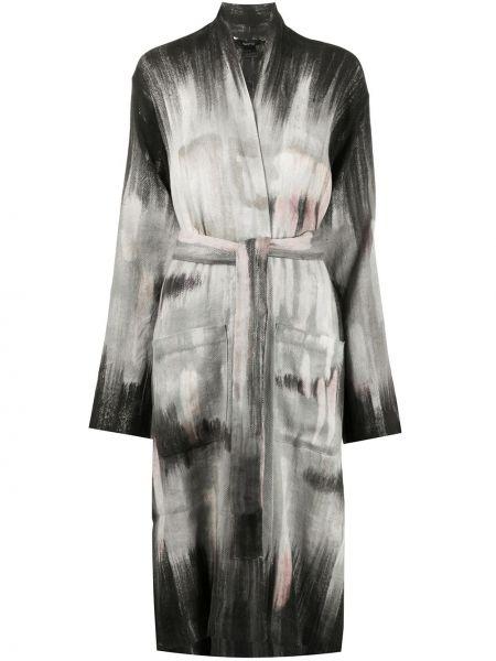 Черное кашемировое длинное пальто с капюшоном Avant Toi