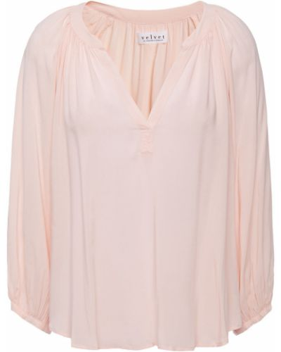 Бархатная блузка Velvet By Graham & Spencer