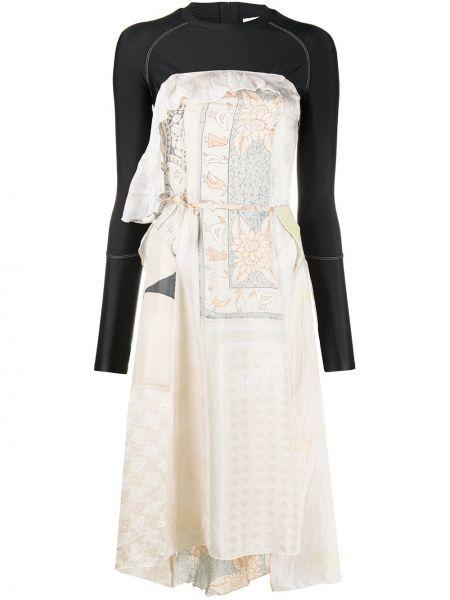 Шелковое платье миди - черное Marine Serre