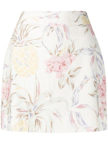 Хлопковая юбка мини с подкладкой в цветочный принт See By Chloé