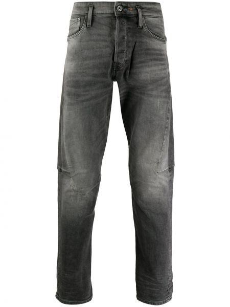 Хлопковые серые джинсы классические с карманами G-star Raw