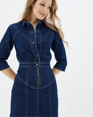 Джинсовое платье синее весеннее Whynotdenim