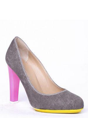 Кожаные туфли - серые Vicini