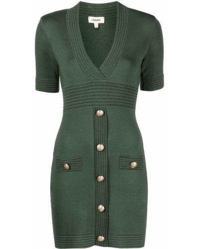 Платье мини короткое - зеленое L'agence
