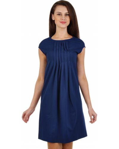 Платье из вискозы - синее Piazza Sempione