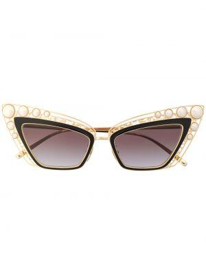 Okulary przeciwsłoneczne dla wzroku z perłami oko kota Dolce & Gabbana Eyewear