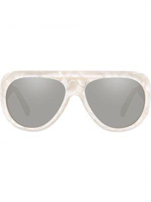 Białe okulary perły Alain Mikli
