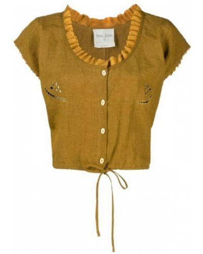 Koszula nocna - żółta Forte Forte
