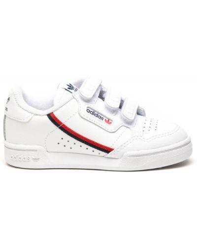 Białe sneakersy skorzane na rzepy Adidas Originals