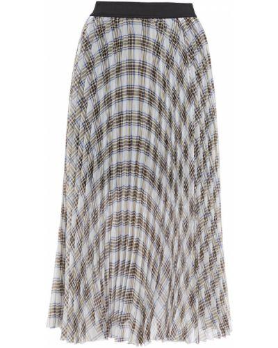 Белая плиссированная юбка миди с подкладкой Maje
