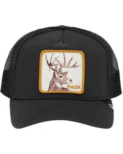 Z paskiem czarny kapelusz z haftem Goorin Bros